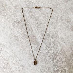 Chan Luu Gold Hamsa Hand Necklace